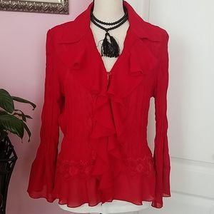 Coldwater Creek dressy blouse M